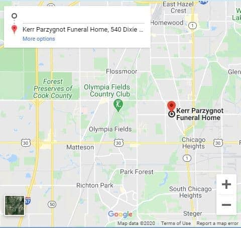 kerr-parzygnot funeral home chicago heights